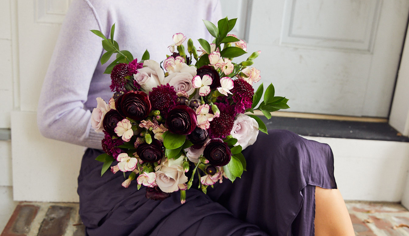 Rich jewel-toned bouquet perfect for an autumn weding
